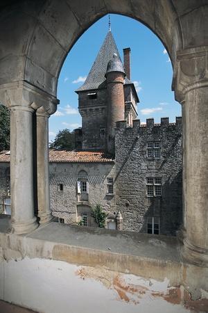 Gate of a Castle, Montespieu Castle, Midi-Pyrenees, France
