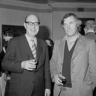 Philip Larkin and Ted Hughes, June 1977