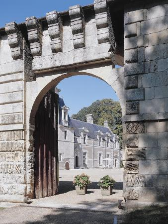 Gate of a Castle, Reugny, La Valliere Castle, Centre, France