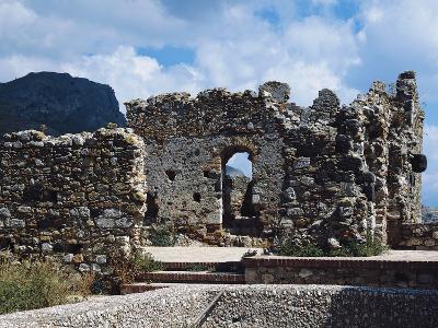 Ruins of Norman Castle of Castelmola, Sicily, Italy