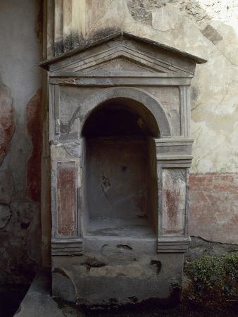Italy, Pompeii, House of the Tragic Poet, Lararium