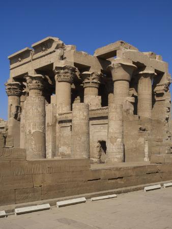 Egyptian Art, Temple of Kom Ombo, Papyrus Columns