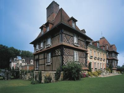 Low Angle View of a Castle, Le Breuil-En-Auge, Basse-Normandy, France