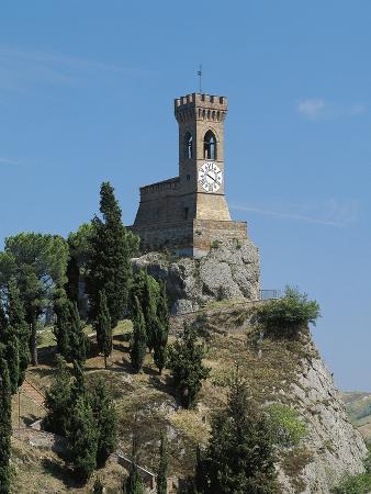Clock Tower on Hill, 19th Century, Brisighella, Emilia-Romagna, Italy