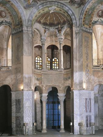 Interiors of a Cathedral, St. Vitalis, Ravenna, Emilia-Romagna, Italy