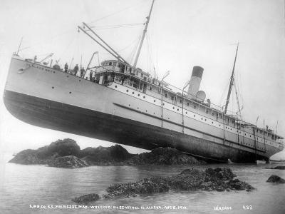 S.S. Princess May Wrecked on Sentinel Island, Alaska, August 5, 1910