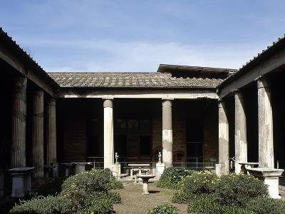 Italy, Pompeii, House of the Vettii, Reconstruction of the Peristyle