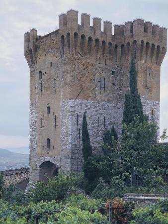 Low Angle View of a Fort, St. Angelo, Perugia, Umbria, Italy