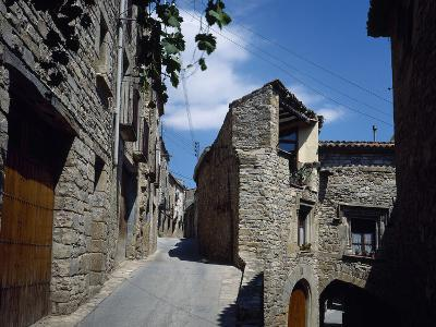 Spain, Catalonia, Guimera, Street, View, Province of Lleida