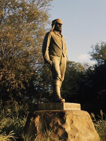 David Livingstone Memorial Statue, 1954, at Victoria Falls, Zimbabwe