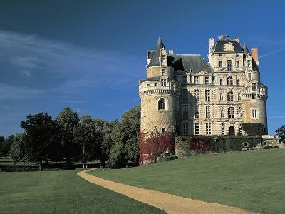 Low Angle View of a Castle, Chateau De Brissac, Loire Valley, France