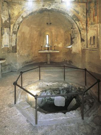 Baptismal Font in a Church, Carate Brianza, Agliate, Lombardy, Italy