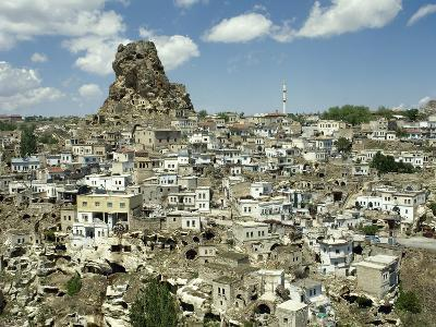 Turkey, Cappadocia, Ortahisar with Castle, Central Anatolia