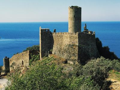 Mount Ursino Castle, 12th-16th Century Noli, Liguria, Italy