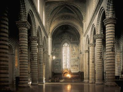 Interiors of a Cathedral, Orvieto, Umbria, Italy