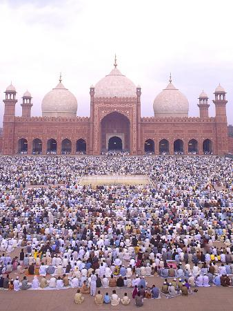 Worship at Badshahi Mosque, Eid-Ul-Fitr Celebration, Lahore, Pakistan