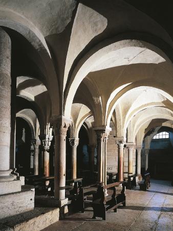 Interiors of a Basilica, Basilica of San Zeno, Verona, Veneto, Italy