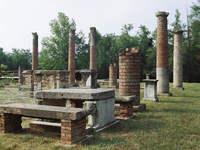 Ruins of Roman Forum, Velleia, 2nd Century Bc, Emilia-Romagna, Italy