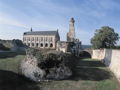 Tree Near a Castle, Grand-Pressigny Castle, Centre, France