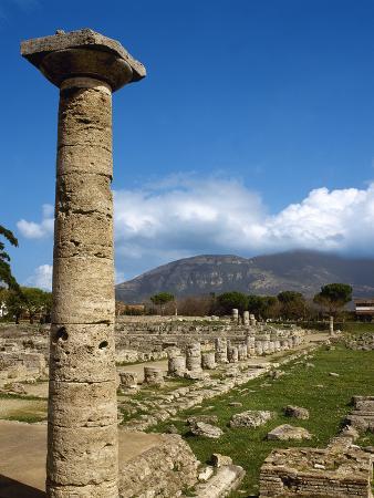 Italy, Paestum, Ruins, Campania, Southern Italy