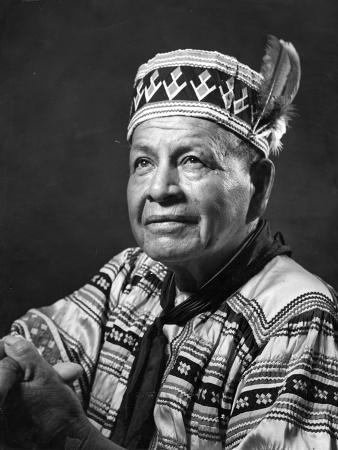 Tribal Leader in Traditional Seminole Clothing, 1961