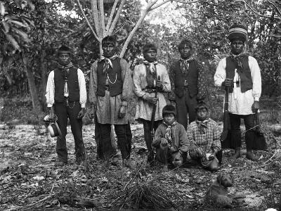 Men, Boys and a Dog Gather in Coconut Grove, C.1890