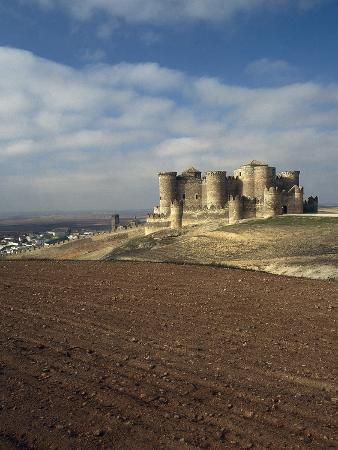 Spain, Belmonte Castle, Built in 15th Century by Juan Pacheco, View