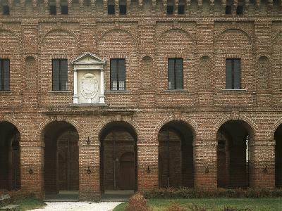Facade of a Palace, Sabbioneta, Lombardy, Italy