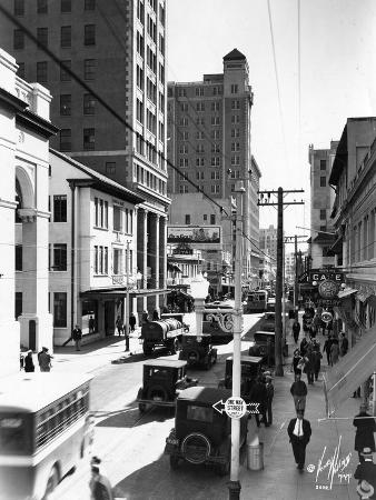 Looking South on N. E. First Avenue from N. E. 2nd Street, C.1930