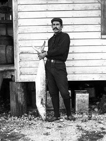 Mr. Lloyd Holds a Kingfish, Coconut Grove, C.1890