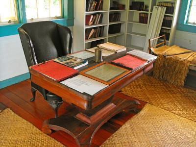 Robert Louis Stevenson's Desk, Villa Vailima, Apia, Samoa