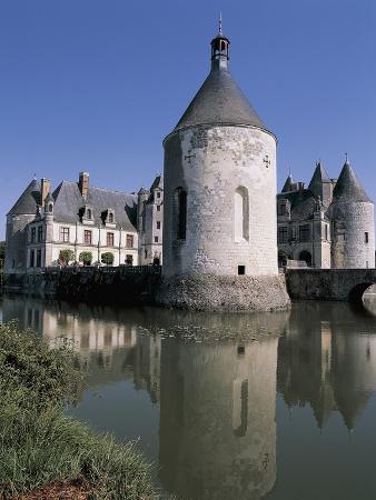 Castle at the Waterfront, La Motte Castle, Centre, France