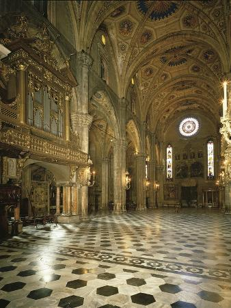 Interiors of a Cathedral, Como, Lombardy, Italy