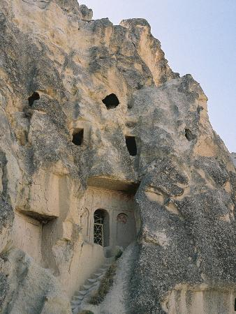 Turkey, Goreme, Dwellings Carved into the Rock