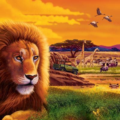 Big Buck Safari Cabinet Art