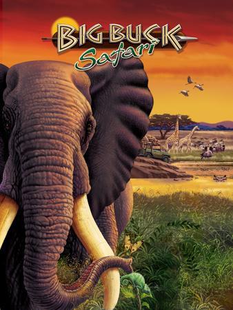 Big Buck Safari Elephant Cabinet Art  with Logo