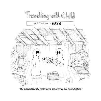 """""""We understood the risks when we chose to use cloth diapers."""" - Cartoon"""