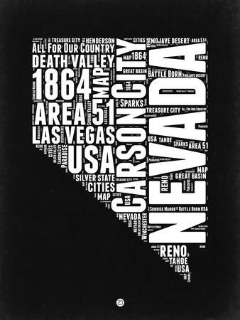 Nevada Black and White Map