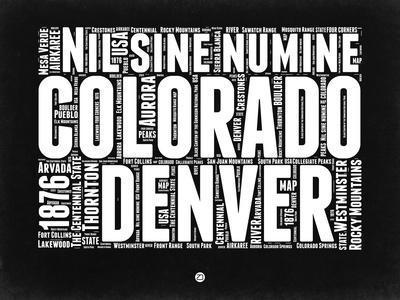 Colorado Black and White Map