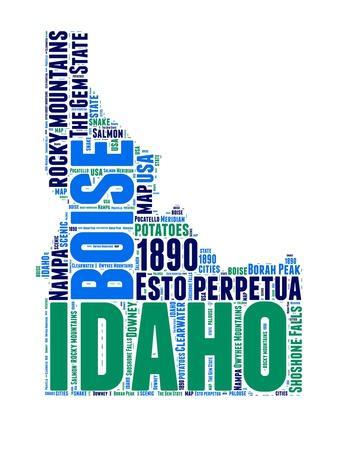 Idaho Word Cloud Map