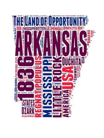 Arkansas Word Cloud Map