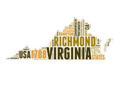 Virginia Word Cloud Map