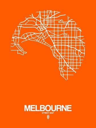 Melbourne Street Map Orange