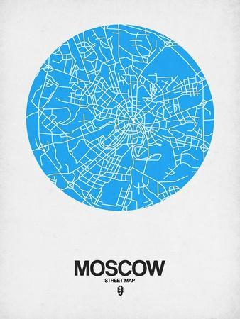 Moscow Street Map Blue