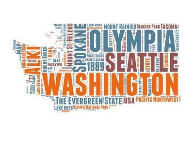 Washington Word Cloud Map
