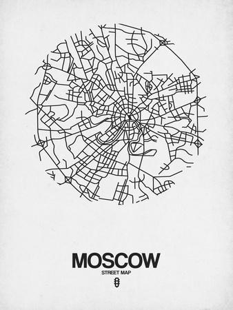 Moscow Street Map White
