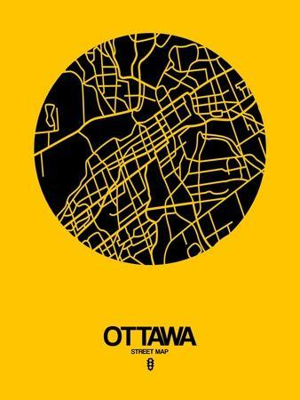 Ottawa Street Map Yellow