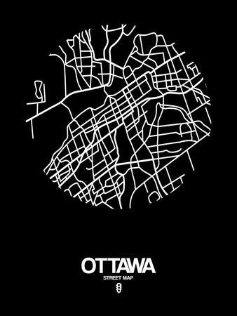 Ottawa Street Map Black