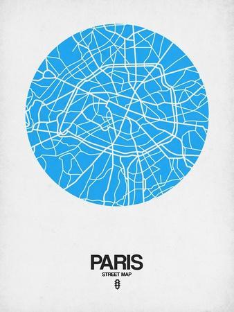 Paris Street Map Blue