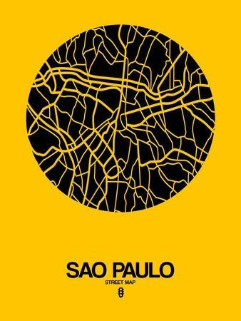 Sao Paulo Street Map Yellow